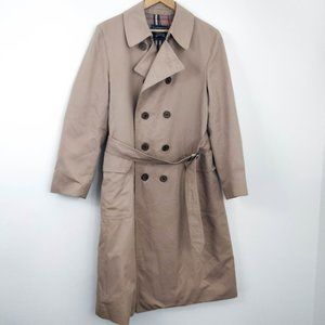 Vintage Burberry Classic Belted Trench Coat Large